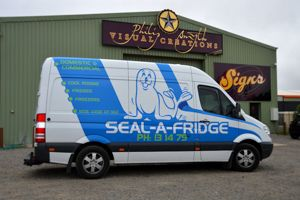 Sign Written Vans - Seal-A-Fridge