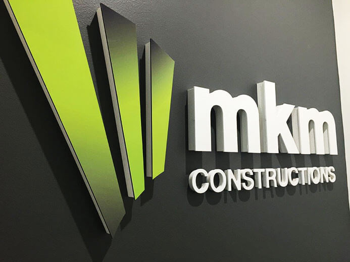 MKM Constructions Business Signage